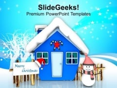 Celebrate This Winter With Snow PowerPoint Templates Ppt Backgrounds For Slides 0413