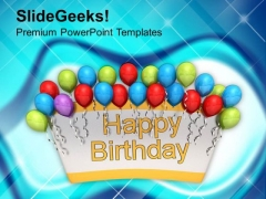 Celebration Theme For Birthday PowerPoint Templates Ppt Backgrounds For Slides 0513