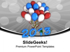 Celebration Theme With Balloons PowerPoint Templates Ppt Backgrounds For Slides 0413