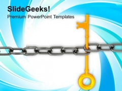 Chain And Key Teamwork Concept PowerPoint Templates Ppt Backgrounds For Slides 0113