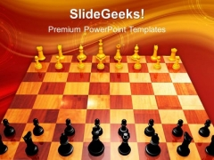 Challenge Chess Game PowerPoint Templates And PowerPoint Themes 1012