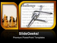 Challenge Theme Business PowerPoint Templates And PowerPoint Backgrounds 0311