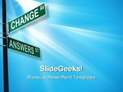 Change Av Answers St Business PowerPoint Templates And PowerPoint Backgrounds 0911