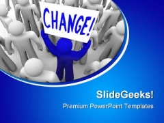 Change Metaphor PowerPoint Themes And PowerPoint Slides 0511