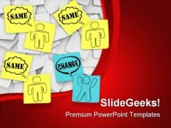Change Same Sticky Notes Leadership PowerPoint Themes And PowerPoint Slides 0711