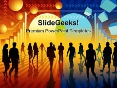 Changing World Business PowerPoint Template 0810