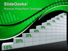 Chart With Percents Business Marketing PowerPoint Templates And PowerPoint Backgrounds 0611