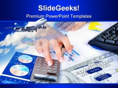 Charts Business PowerPoint Template 1010