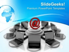Chating And Emails Through Online Technology PowerPoint Templates Ppt Backgrounds For Slides 0713