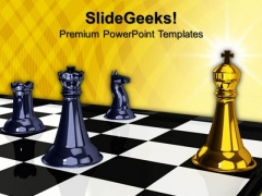 Check Mate Chess Game PowerPoint Templates And PowerPoint Themes 1012