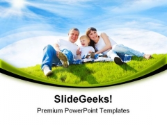 Cheerful Family Holidays PowerPoint Themes And PowerPoint Slides 0511