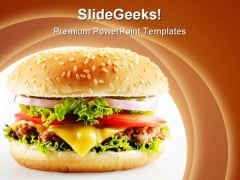 Cheese Burger Food PowerPoint Templates And PowerPoint Backgrounds 0211