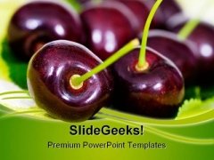 Cherries Food PowerPoint Templates And PowerPoint Backgrounds 0211