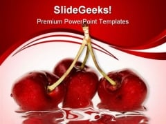 Cherries Food PowerPoint Templates And PowerPoint Backgrounds 0411