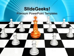Chess Board The Leadership PowerPoint Templates And PowerPoint Themes 1012