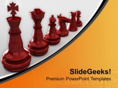 Chess Improves Brain Strength PowerPoint Templates Ppt Backgrounds For Slides 0713
