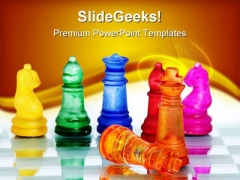 Chess King Winner Metaphor PowerPoint Templates And PowerPoint Backgrounds 0311