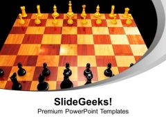 Chess Leisure Challenge Checkmates Game PowerPoint Templates Ppt Backgrounds For Slides 0113