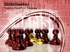 Chess Mates With King Failure Racism Mechanism PowerPoint Templates Ppt Backgrounds For Slides 0113