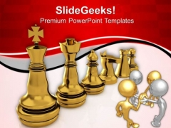 Chess Strategy For Team Players PowerPoint Templates Ppt Backgrounds For Slides 0813