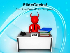 Chief Manager Business Concept PowerPoint Templates Ppt Backgrounds For Slides 0613