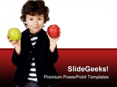 Child With Apple Food PowerPoint Themes And PowerPoint Slides 0511