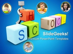 Children School Education PowerPoint Themes And PowerPoint Slides 0411