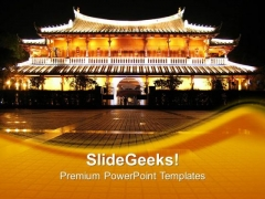 Chinese Pagoda Beauty PowerPoint Templates And PowerPoint Themes 0712