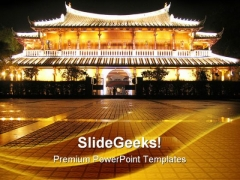 Chinese Pagoda Vacation PowerPoint Templates And PowerPoint Backgrounds 0511