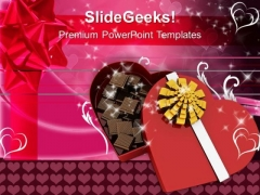Chocolate Box Valentines Gift PowerPoint Templates Ppt Backgrounds For Slides 0213