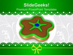 Chocolate Cookies Christmas PowerPoint Templates Ppt Backgrounds For Slides 1212