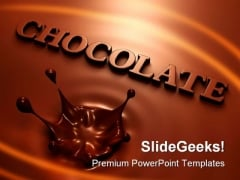 Chocolate Splash Food PowerPoint Themes And PowerPoint Slides 0211