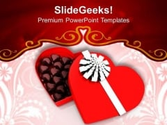 Chocolates Gift Box Love PowerPoint Templates Ppt Backgrounds For Slides 0213