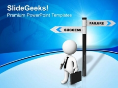 Choose The Path Of Success PowerPoint Templates Ppt Backgrounds For Slides 0713