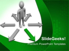 Choose Way Business PowerPoint Templates And PowerPoint Themes 0612