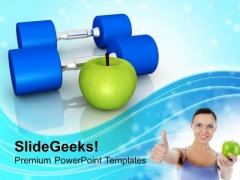 Choose Your Fitness Mantra For Good Health PowerPoint Templates Ppt Backgrounds For Slides 0513