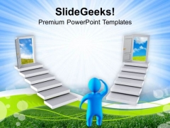 Choosing The Right Door For New Opportunities PowerPoint Templates Ppt Backgrounds For Slides 0613
