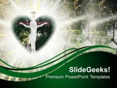 Christ Crucifix Religion PowerPoint Templates And PowerPoint Themes 0712