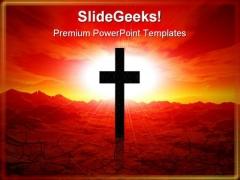 Christ Worship Religion PowerPoint Template 0610