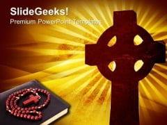 Christian Cross Background Religion PowerPoint Templates And PowerPoint Themes 0712