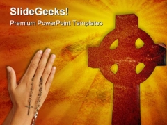 Christian Cross Religion PowerPoint Themes And PowerPoint Slides 0211