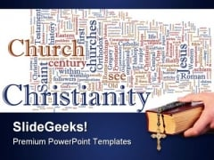 Christian Word Cloud Religion PowerPoint Templates And PowerPoint Backgrounds 0211