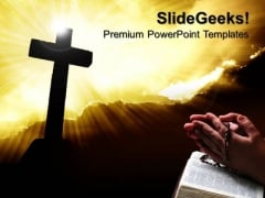 Christianity Cross Religion PowerPoint Templates And PowerPoint Themes 0712