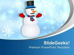 Christmas Background Snow Illustration Symbol PowerPoint Templates Ppt Backgrounds For Slides 0113
