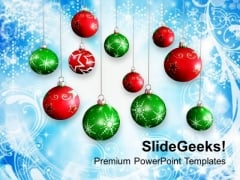 Christmas Background With Baubles Holiday PowerPoint Templates Ppt Backgrounds For Slides 1112