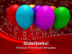 Christmas Balloons Events PowerPoint Templates Ppt Backgrounds For Slides 1112