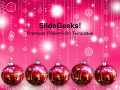 Christmas Balls Abstract Background PowerPoint Templates And PowerPoint Themes 1112