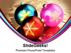 Christmas Balls Festival PowerPoint Backgrounds And Templates 0111
