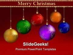 Christmas Balls Festival PowerPoint Backgrounds And Templates 1210
