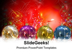 Christmas Balls Holidays PowerPoint Template 1010